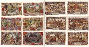 6 Banknoten Notgeld Gemeinde Groß-Flottbek 1921 (114391)