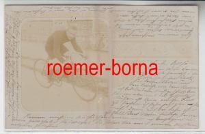 78891 Foto Ak Radrennfahrer 1901