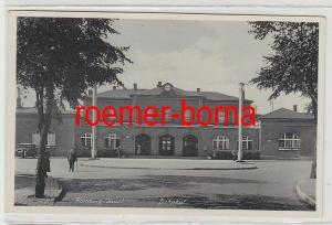 75656 Ak Homburg (Saar) Bahnhof um 1940
