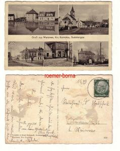79930 Mehrbild Ak Gruß aus Wurzmes Krs. Komotau Sudetengau 1940