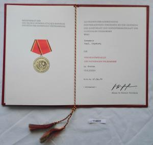 DDR Urkunde Verdienstmedaille der NVA in Bronze 1979 (114031)