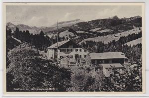 89145 AK Gasthaus zur Walserschanz, 1000m ü. Meeresspiegel, Inh. Gschwender 1935