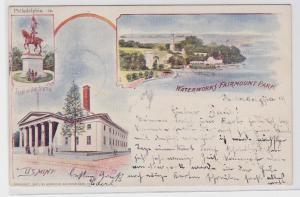 66817 AK Philadelphia - Waterworks Fairmount Park, Joan of Art Statue, US Mint