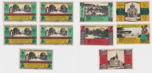 5 Banknoten Notgeld Jäger Appell in Bückeburg 1921 (123303)