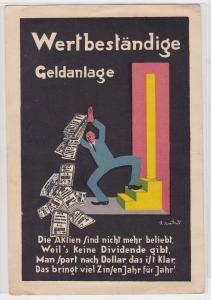 87966 Karikatur AK Wertbeständige Geldanlage - Hetze gegen Aktien um 1930