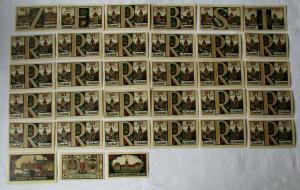33 Banknoten Notgeld Stadt Zerbst 10 bis 100 Pfennig 1921 (133324)
