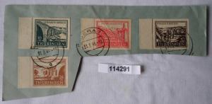 Briefstück mit SBZ Thüringen Michel 112-115 gestempelt 1946 (114291)