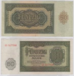 50 Mark Banknote DDR Deutsche Notenbank 1948 (122342)