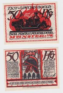 50 Pfennig Banknote Münster freiwillige Feuerwehr (1921) (124790)