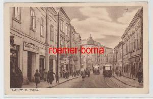 72094 Ak Tarnow Polen Ul. Walowa mit Straßenbahnen 1931
