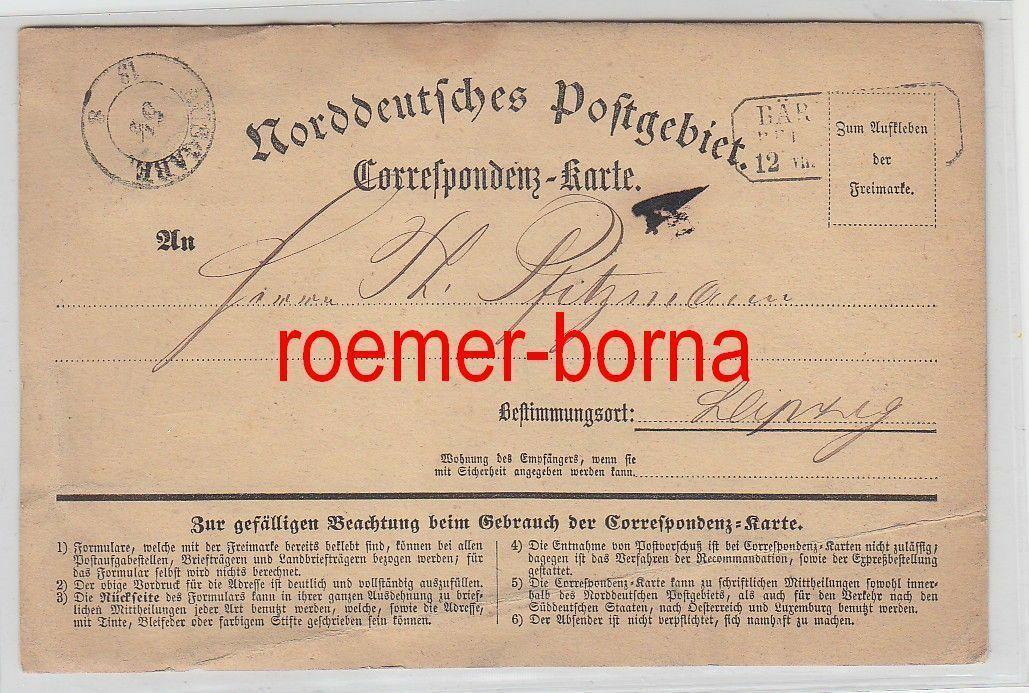 75508 Correspondenz Karte Norddeutsches Postgebiet vor 1900 0