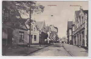 49448 Ak Blumenthal Langestrasse mit Geschäften 1919
