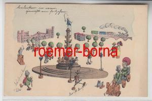 70842 Künstler Ak Militär Humor Wien Praterstern 1903