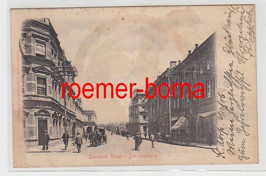 72125 Ak Johannesburg Transvaal Simmond Street 1906 0