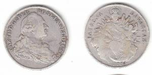 1 Taler Silber Muenze Bayern Karl II. Theodor 1778 Madonnentaler