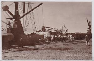 83917 Foto Ak Santos Brasilien Embarque de Café, Hafen 1914