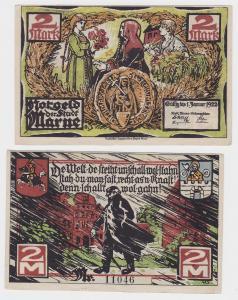 2 Mark Banknote Notgeld Stadt Marne o.D. (1921) (121512)