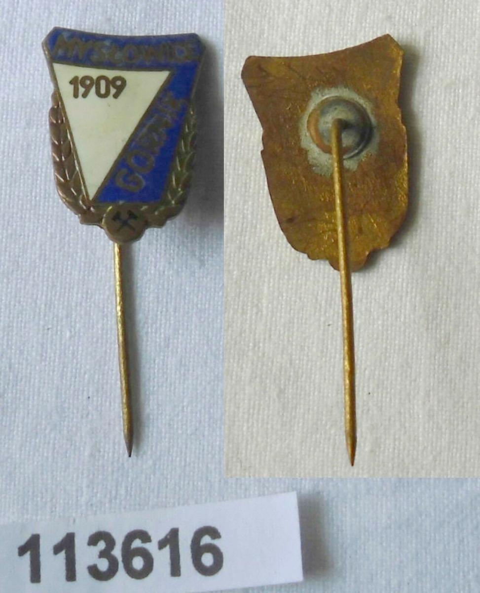 Emaillierte Anstecknadel Myslowice Gornik 1909 Bergbau (113616) 0