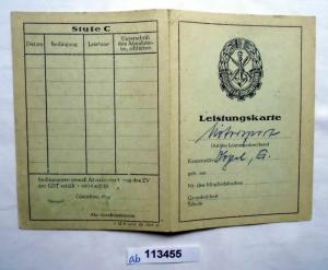 DDR Leistungskarte GST für Mehrkampfleistungsabzeichen (113455)