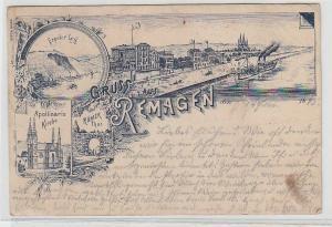 71579 Mehrbild Ak Gruß aus Remagen Stadtansichten 1895