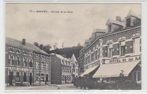 71239 Ak Houyet in Belgien Avenue de la Gare um 1915