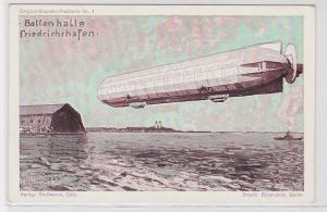 87403 Original Zeppelin Postkarte Nr.1 Ballonhalle Friedrichshafen um 1920