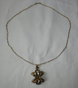 Vergoldete Kette 800er Silber mit Anhänger aus 333er Gold Bicolor (120997)