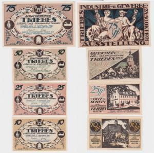 4 Banknoten Notgeld Städtische Sparkasse Triebes 1.10.1921 (121156)