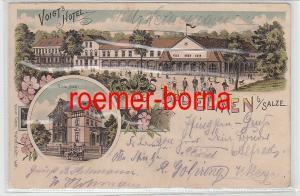 76859 Ak Lithographie Gruss aus Bad Elmen bei Salze Voigts Hotel 1900