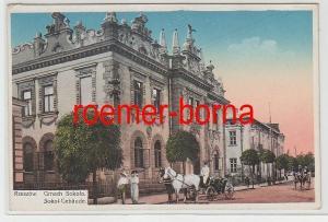 74368 Ak Rzeszów Reichshof Sokol-Gebäude Gmach-Sokola 1915