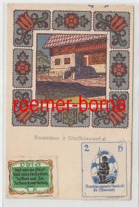 72689 Künstler Ak Bauernhaus Obersteiermark Deutschnat. Verein f. Österreich1919