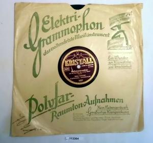 113364 Schellackplatte Ballsirenenwalzer + Lotosblumen Walzer um 1930