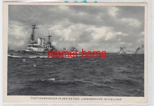 83362 Ak Flottenmanöver in der Ostsee. Linienschiffe in Kiellinie 1940