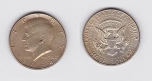 1/2 Dollar Silbermünze USA 1964 John F.Kennedy (119812)