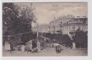 86752 Feldpost Ak Wilna Prospekt Sto. Jerski 1916