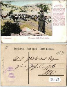 34328 Feldpost Ak Deutsch Süd West Afrika Kriegsbilder um 1907