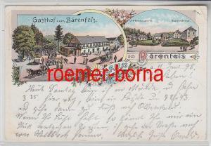 77928 Ak Lithografie Gruss aus Bärenfels Gasthof zum Bärenfels 1898