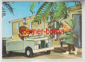 67671 Ak Sandmann mit Auto und Äffchen Deutscher Fernsehfunk Fernsehen DDR 1973