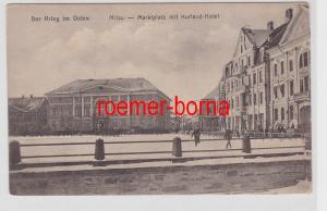 67804 Ak Mitau Jelgava Lettland Marktplatz mit Kurland Hotel 1916