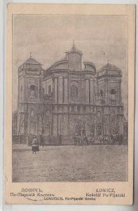 68445 Feldpost Ak Lowitsch Łowicz Po Pijarski Kirche 1915