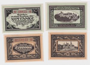25 & 50 Pfennig Banknoten Notgeld Stadt Bernburg 1.5.1920 (121883)