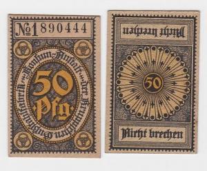 50 Pfennig Banknote Notgeld Kruppsche Gußstahlfabrik Konsum Anstalt (121674)