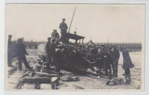 15924 Ak abgeschossenes Torpedo Schnellboot an der Ostmole von Ostende April1918
