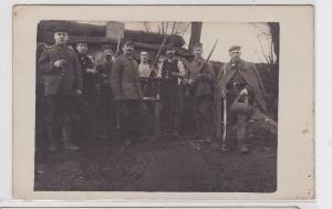 86954 Feldpost Foto Ak Landser mit Pfeife und Karabiner 1.Weltkrieg 1916