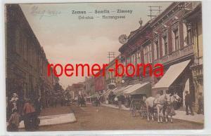 77603 Ak Zemun Semlin Zimony in Serbien Herrengasse um 1920
