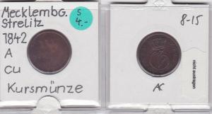 3 Pfennig Kupfer Münze Mecklenburg-Strelitz 18.. (121089)
