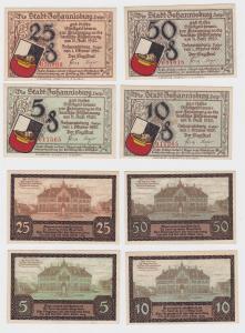 4 Banknoten Notgeld Stadt Johannisburg in Ostpreussen 1.10.1921 (121473)