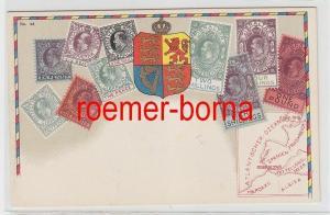 73798 Briefmarken Präge Ak Briefmarken von Gibraltar um 1910