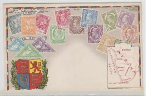 69082 Wappen Ak Cape of Good Hope Kap der guten Hoffnung mit Briefmarken um 1900