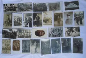 100 meist Foto Ansichtskarten Militaer Soldaten 1. Weltkrieg (107930)